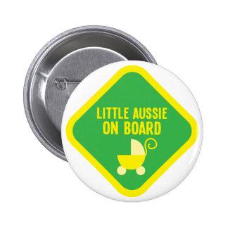 Little Aussie on Board on a sign 6 Cm Round Badge