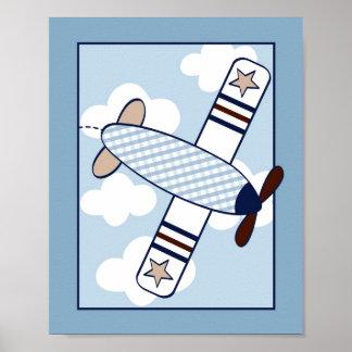 Little Aviator Aeroplane Nursery Wall Art Print