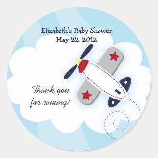 Little Aviator (Blue) Favor Stickers