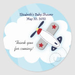 Little Aviator (Blue) Favour Stickers