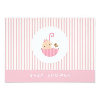 "{little baby}  baby shower invitation 5"" x 7"" invitation card"