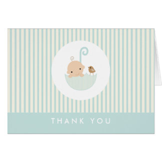 {little baby}  baby shower thank you card