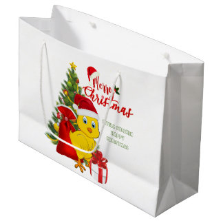 Little Baby Chicken Christmas Large Gift Bag