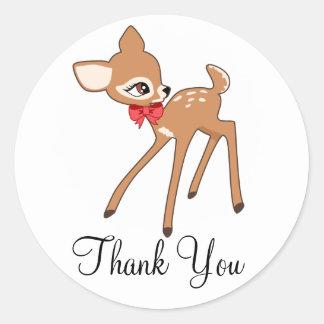 Little Baby Deer Thank you sticker