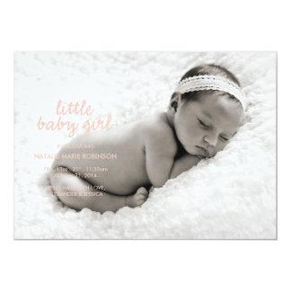 LITTLE BABY GIRL Birth Announcement