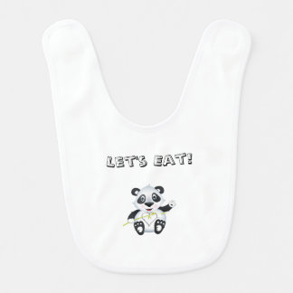 'Little Baby Love Seal' Panda Character Bib