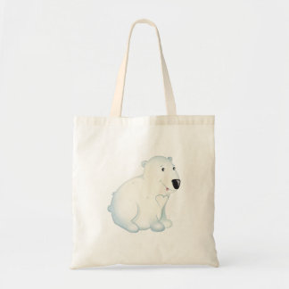 'Little Baby Love Seal' Polar Bear Totebag Tote Bag