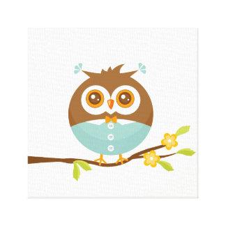 Little Baby Owl Canvas Print