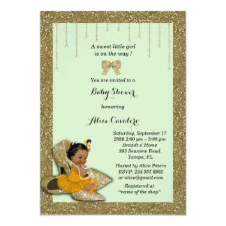 Little Baby Shower Girl Invitation,trendy,chic Card