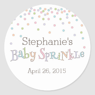 Little Baby Sprinkle Confetti Shower Favor Sticker