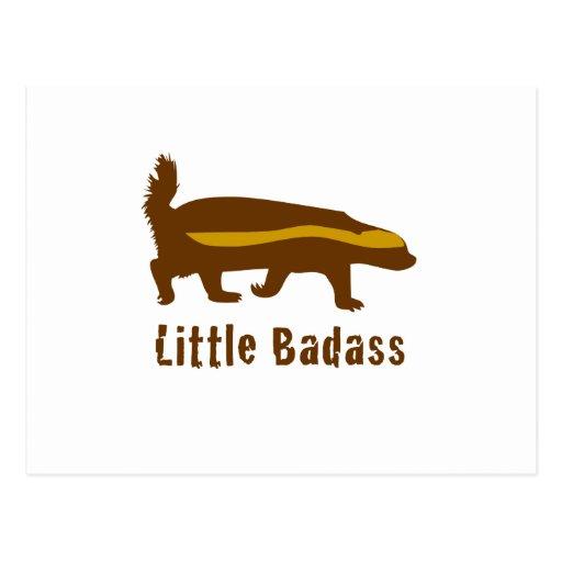 Little badass honey badger post card