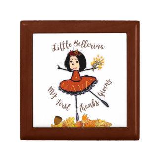 Little Ballerina-1st Thanksgiving-Treasure Keeper Gift Box