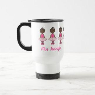 Little Ballerina Ballet Dance Teacher Personalized Travel Mug