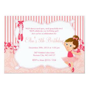 Ballerina birthday invitations announcements zazzle little ballerina birthday invitations version 4 filmwisefo