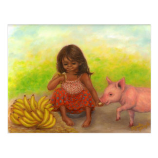 Little Banana Seller Postcard