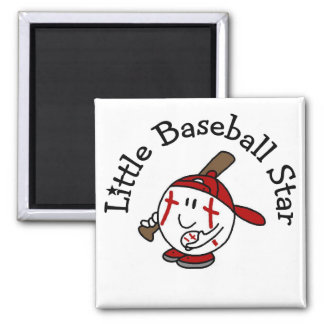 Little Baseball Star Tshirts and Gifts Square Magnet