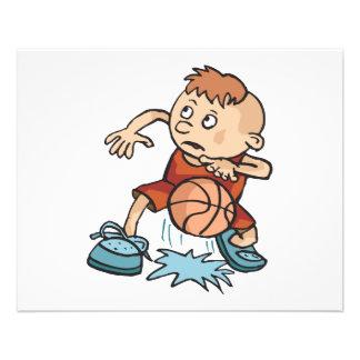 little basketball kid boy dribbling ball 11.5 cm x 14 cm flyer