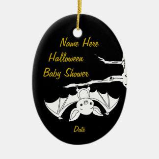 Little Bat Halloween Baby Shower Keepsake Ornament
