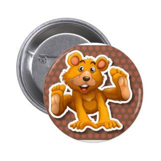 Little bear 6 cm round badge