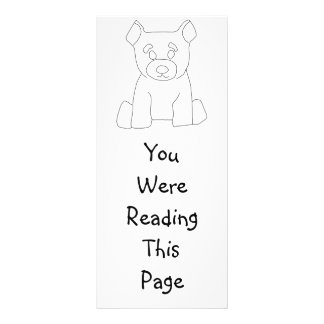 Little Bear Bookmark Template Rack Card Template