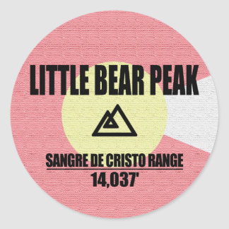 Little Bear Peak Classic Round Sticker