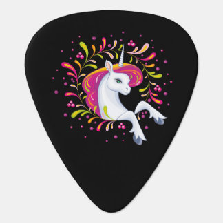 Little beautiful unicorn unicorn guitar plectrum
