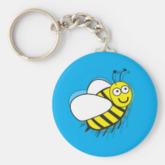 Little Bee Basic Round Button Key Ring