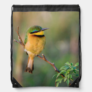 Little Bee-Eater Perching On A Branch, Maasai Backpack