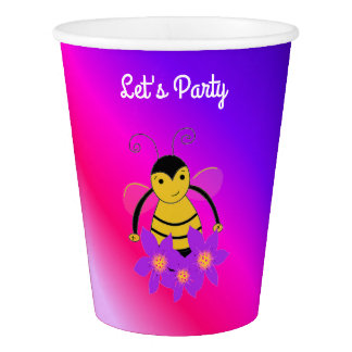 Little Bee Let's Party Paper Cup