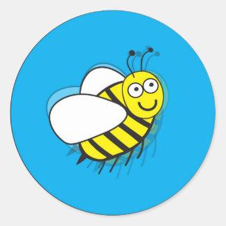 Little Bee Round Sticker