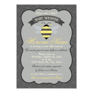 Little Bee Shower Invitation