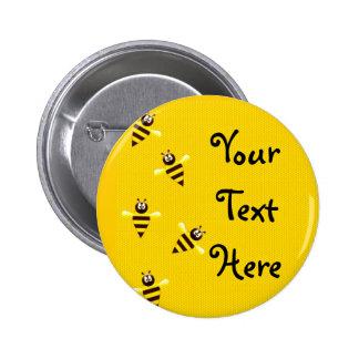 Little Bees Pinback Buttons