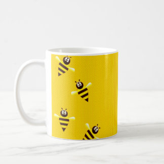 Little Bees Basic White Mug