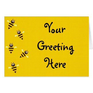 Little Bees Greeting Card