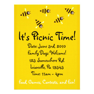 Little Bees Picnic Flyer