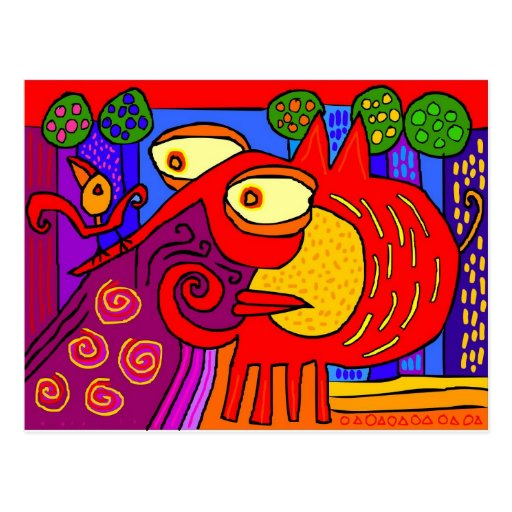 'little bird big shit' postcards