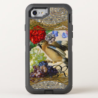Little Bird From the Past Vintage Cool Monogram OtterBox Defender iPhone 8/7 Case