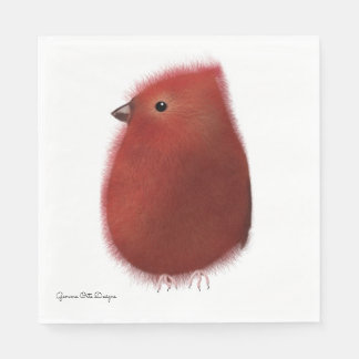 Little bird  paper napkin by Gemma O Designs