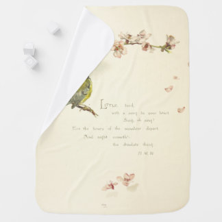 little bird poem baby blanket