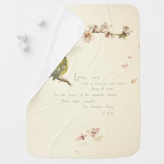 little bird poem receiving blankets