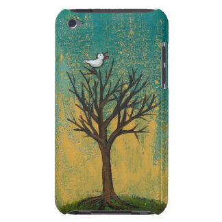 Little bird sings fun pretty original art painting iPod touch Case-Mate case