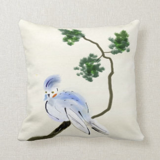 Little Bird Sumi-e Pillow