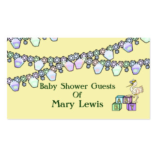 Little Birdie Baby Shower In Yellow Pack Of Standard Business Cards