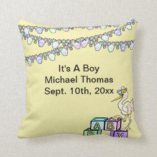 Little Birdie Baby Shower In Yellow Keepsake Cushions