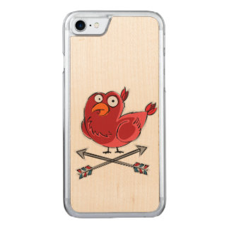 Little Birdie Illustration Carved iPhone 7 Case