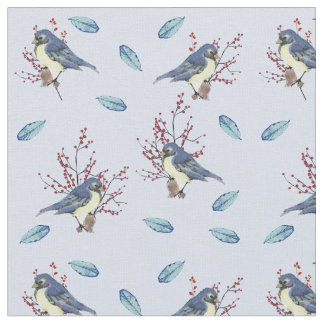 Little Birds and Berries Fabric