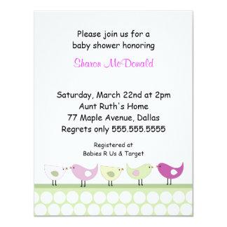 Little Birds birthday party invitation