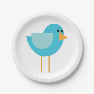 Little Birds (Blue Bird) Paper Plate