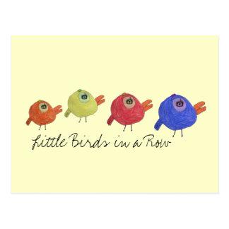 Little Birds in a Row Postcard
