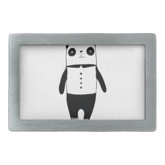 Little black and white panda belt buckle